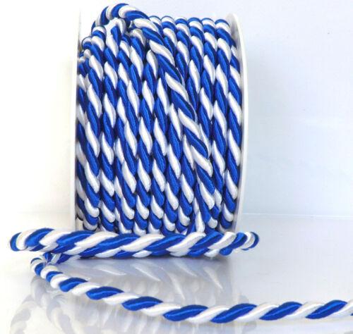 CABLE de 10 m x 6 m azul 1m = 0,60 € giro blanco cable cable de cinta decorativa de banda