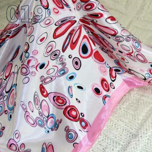 Vintage Elegant Designs Silk Satin Feel Ladies Small Square Head//Neck Scarf 019