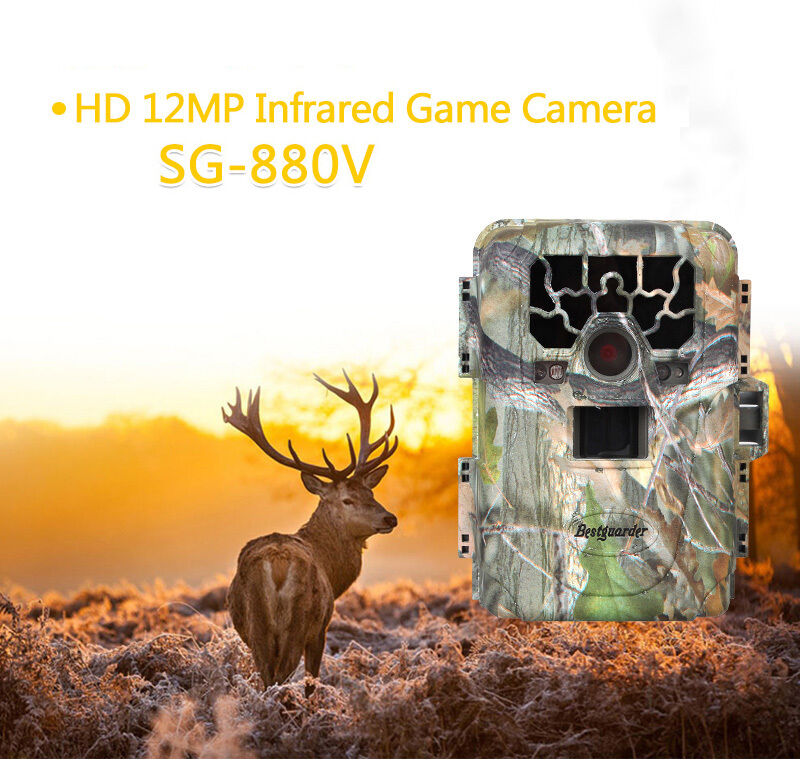 SG-880V Low Glow 12MP Infrared IR Digital Trail Game Hunting  Camera 2  Monitor  100% authentic