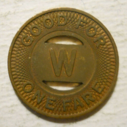 Lot of 10 Wisconsin Power /& Light Co. transit tokens Fond du Lac WI220E