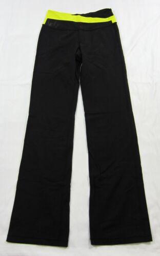 Lululemon Black Yellow Astro Pants Womens Flared S