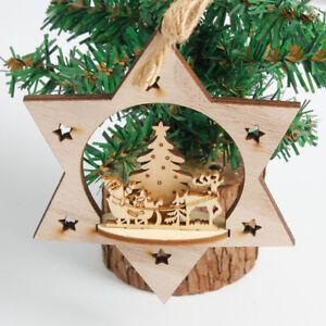 Ornamentos-de-madera-del-copo-de-nieve-Decoracion-rustica-del-ornamento-del-arbo