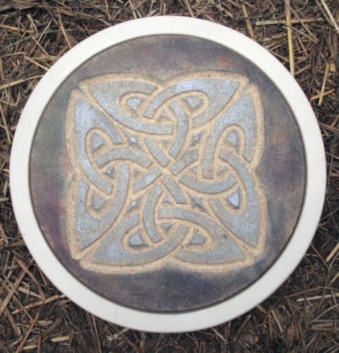 "Celtic stepping stone plastic mold plaster concrete casting mould  12/"" x 1.5/"""