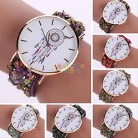 Womens Fashion Geneva Dreamcatcher Watch Faux Leather Analog Quartz Wrist Watch