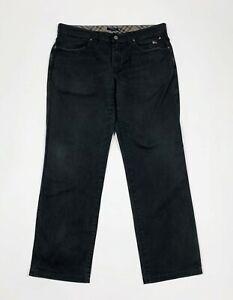 Burberry-pantalone-uomo-usato-gamba-dritta-W38-tg-52-nero-boyfriend-T5871