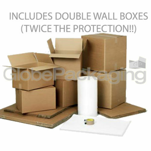X-LARGE REMOVAL KIT MOVING STORAGE 40 CARDBOARD BOXES INCLUDES DOUBLE WALL BOXES