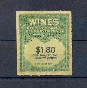 USA 1941 -REVENUE WINES $1,80 --F/VF