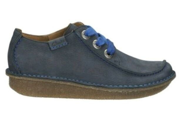 latest trends the latest sale uk Clarks Saltash Lace-up Suede Leather Loafers Shoe Navy UK 9 EU 43