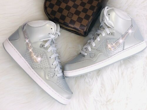 Of mit Schuhe Mid Swarovski Wmns Sneaker Son Crystal Nike Force Elements Luxury 6R8qxw