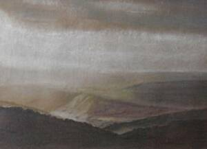 Across-Moorland-Pastel-Painting-B-A-Gammans-Inscribed-Sunlight-on-the-Moors-1990
