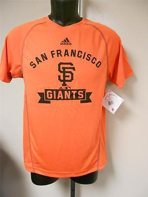 10-12 Adidas Orange Climalite Shirt Neueste Technik Haben Sie Einen Fragenden Verstand Neu San Francisco Giants Youth M