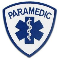 Paramedic Emblem Patch 3.5 X 3.5 Shoulder Arm Blue Star Of Life White Royal