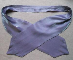 Ascot Foulard Homme Mariage Chouchou Ruché Taille Unique Brillant Violet Lilas-afficher Le Titre D'origine Limpide à Vue