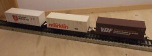 3x-Marklin-H0-4455-Vagon-contenedor-034-VDF-OERLIKON-034-034-Marklin-034-034-MALTES-034