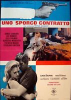 HARD CONTRACT Italian 1F A movie poster 27x38 JAMES COBURN LEE REMICK 1969