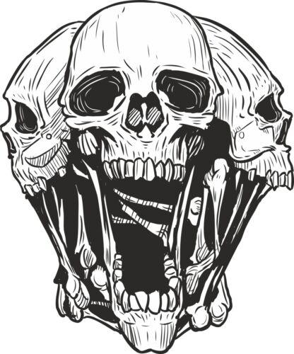 Skull Sticker Head for Bumper Bike Boat Skateboard Book Laptop Car Scooter #20