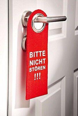 5 X Dekoschild Türschild Filz Türhänger Rot Bitte Nicht Stören Hotel Pension Fest In Der Struktur Außen- & Türdekoration