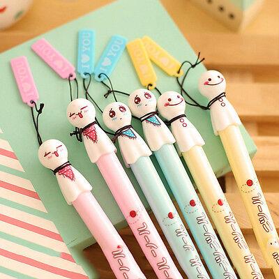 1PC Cute Japanese Sunny Dolls ballpoint pens Black 0.38mm Gift Random
