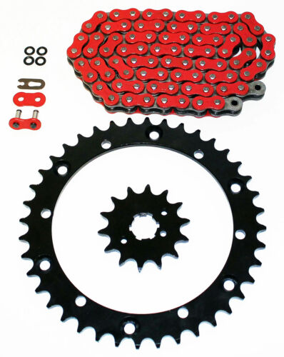 89-2006 Yamaha YFZ350 350 Banshee Red O-Ring Chain /& Black Sprocket 15//41 104L