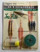 3 Hi-tec Tru-flite Mk V Three Blade Broadheads 125 Grain