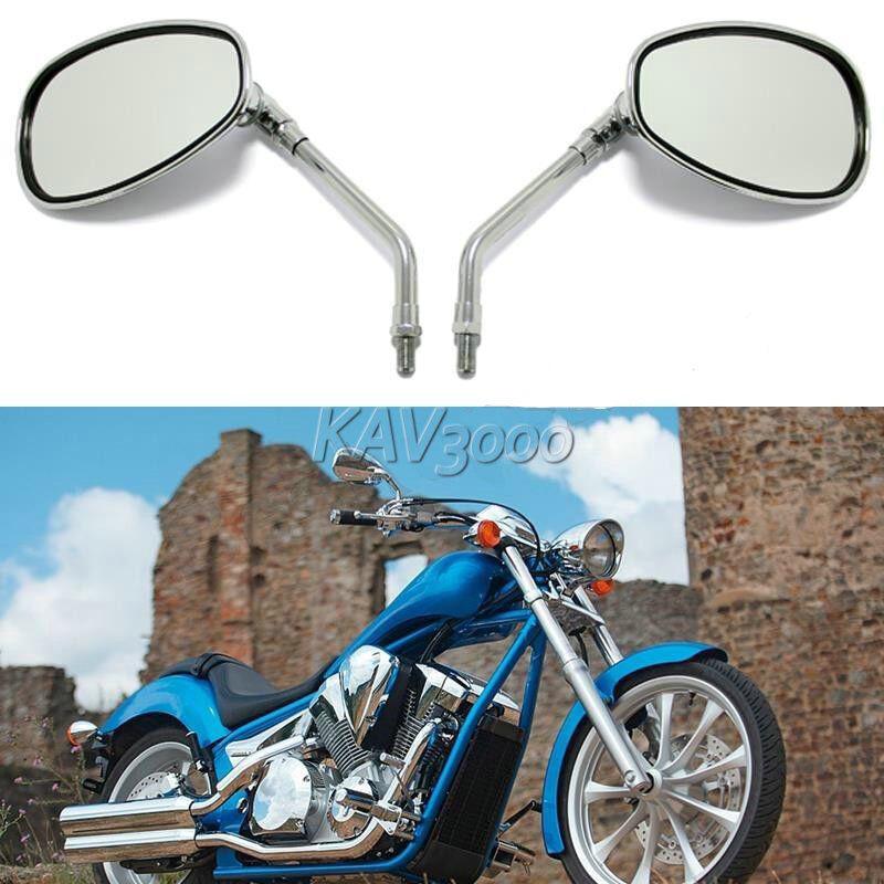 10mm Chrome Rearview Mirrors For Honda Shadow Spirit Aero Classic Vf