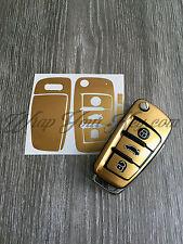 METÁLICO DORADO Llave Envolvente Carcasa Fina Audi Mando A1 A3 A4 A5 A6 A8 TT Q3