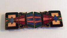 Original Art Deco 2-part enamelled buckle, 1930s