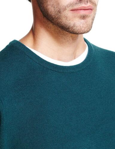 Marks /& Spencer Da Uomo Girocollo Cashmilon ™ SOFT Knit M/&S Maglione Pullover Pullover