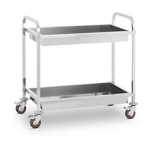 Chariot De Service Desserte Pro Cuisine Table Mobile Roulante