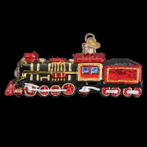 Old-World-Christmas-TRAIN-46080-N-Glass-Ornament-w-OWC-Box