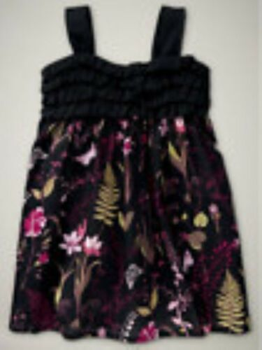 NWT Baby GAP Gypsy Ruffle Flower Dress Black Floral NEW 3-6 months Retail $29.95