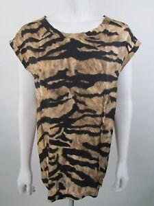 Dolce-amp-Gabbana-Size-42IT-UK10-Animal-Print-Silk-Blouse-Top