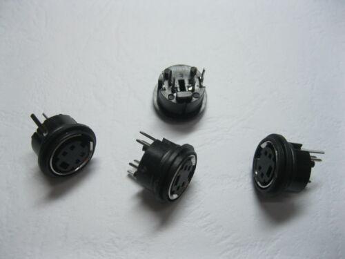 10 Pcs Mini 4 Pin Circular PCB Mount DIN Connector