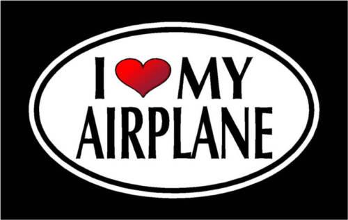 "5.75/""I LOVE MY AIRPLANE vinyl decal sticker.. Plane"