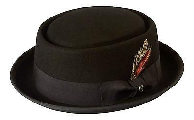Black PorkPie Hat Mod/Ska/ Breaking Bad/ Walter White/Heisenberg/Stingy Brim