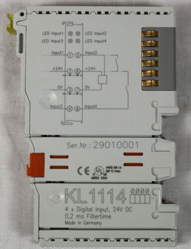 BECKHOFF KL1114 Digital Input Module 24VDC 0.2 ms Filtertime 4 Point *XLNT*