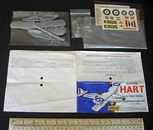 Early-1960s-Vintage-Airfix-Hawker-Hart-2nd-issue-RAF-Day-Bomber-Very-Fine