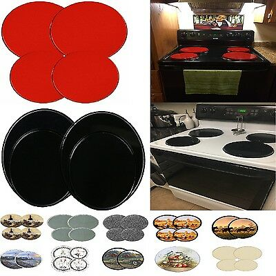 Stove Top Covers 4pcs Electric Cook Burner Oven Cover Kitchen Protector 15  Kinds | eBay