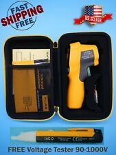 Fluke 62 Max Infrared Thermometer Free Non Contact Tester 90 1000v