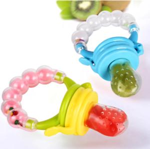 1Pcs Fresh Food Nibbler Baby Pacifiers Feeder Kids Fruit Feeder Nipples Feeding