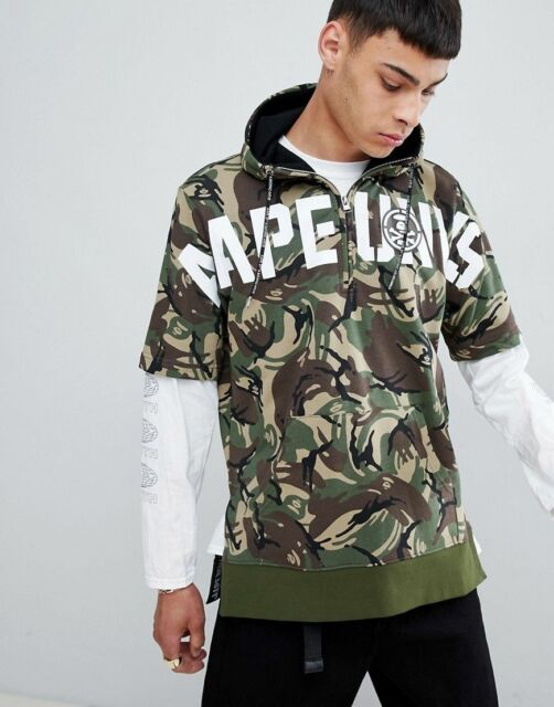 a429498ef843 AAPE by a Bathing Ape Short Sleeve Hoodie With Logo in Camo Size M ...