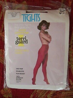 Women's Dance Tights Teens Tights Vintage Seamless Cotton Terry Crotch BERRY NEW