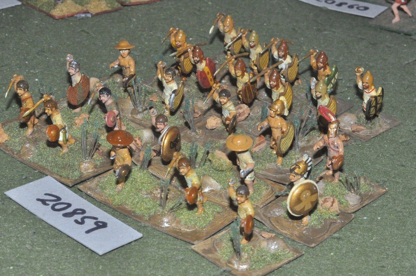 25mm classical   greek - ancient javelinmen 25 figs - inf (20859)