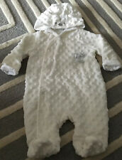 Disney Winnie the Pooh Boys Girls Unisex Ivory Snowsuit Pramsuit N//B 3 6 9 12