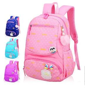 Image is loading Cute-Children-Girls-School-Bag-Waterproof-Comfortable- Backpack- a2d7f06d7585e