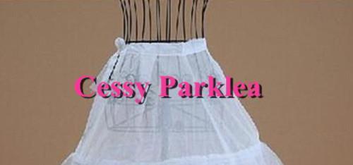 White Flower-Girls Wedding Gown Dress Petticoat Costume Dress Accessories 65cm