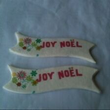 Pk 10 Joy Noel Banners For Crafts