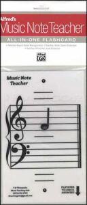 Copieux Alfred's Music Note Enseignant All-in-one Cartes Blanc Théorie Carte D'apprentissage Aide-afficher Le Titre D'origine