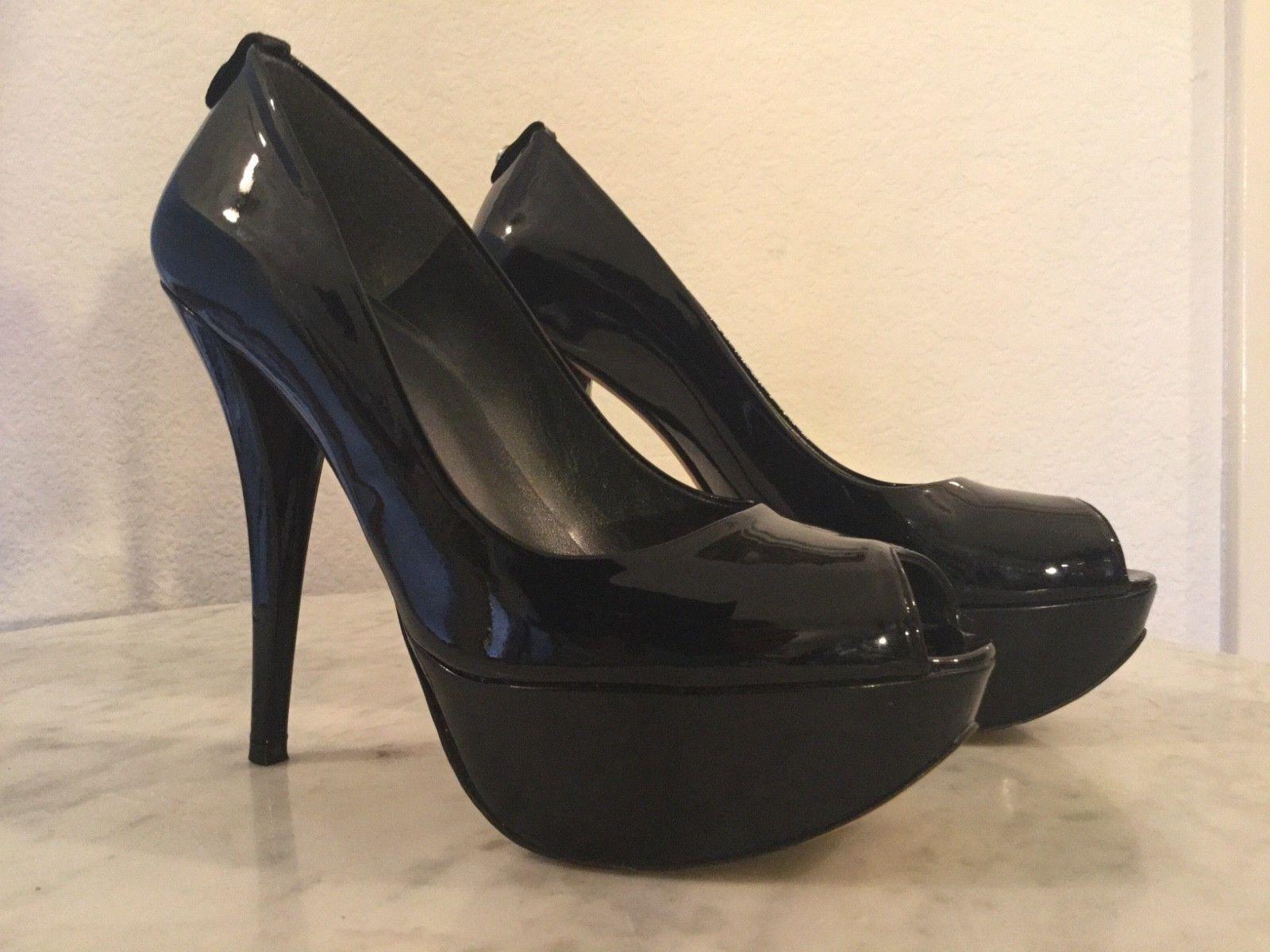 Felice shopping Stuart Weitzman  Diplille  nero Patent Leather Peep Toe Toe Toe Platform Pump. Wm Sz 8M  con il prezzo economico per ottenere la migliore marca