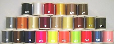 Danville 70 Denier 200 yds 6//0 Flymaster Waxed Synthetic Thread All Colors
